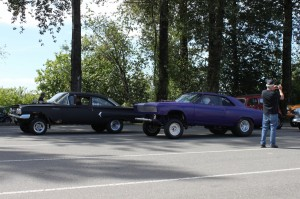 GASSER CHEVELLE AND 60 CHEVY